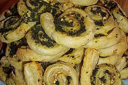 Blätterteig - Spinat - Schnecken 14