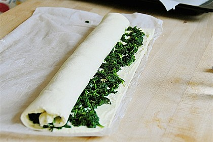 Blätterteig - Spinat - Schnecken 47