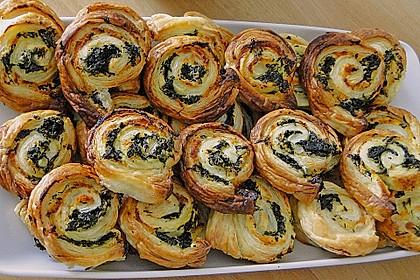 Blätterteig - Spinat - Schnecken 6