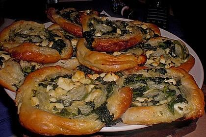 Blätterteig - Spinat - Schnecken 7