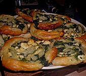 Blätterteig-Spinat-Schnecken (Bild)