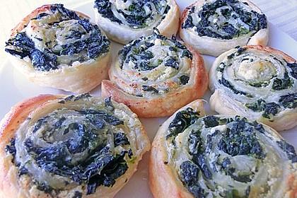 Blätterteig-Spinat-Schnecken 12
