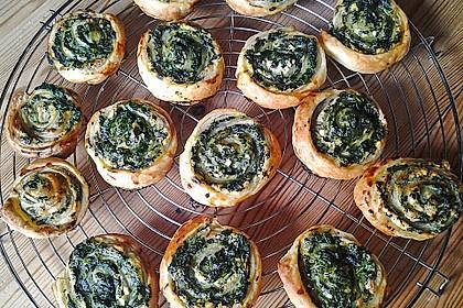 Blätterteig - Spinat - Schnecken 5