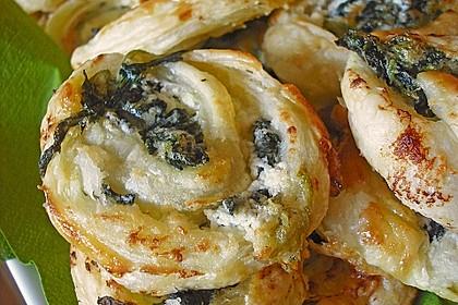 Blätterteig - Spinat - Schnecken 24