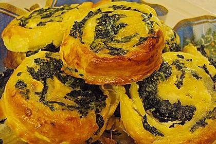 Blätterteig - Spinat - Schnecken 41