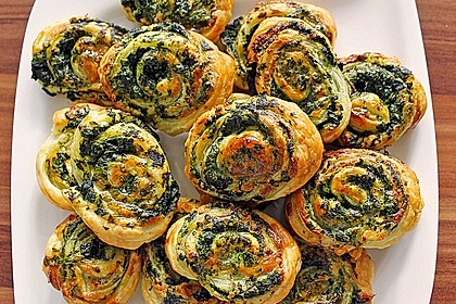 Blätterteig-Spinat-Schnecken 4