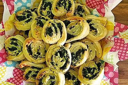 Blätterteig - Spinat - Schnecken 21
