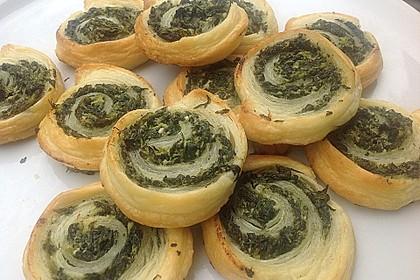 Blätterteig - Spinat - Schnecken 50