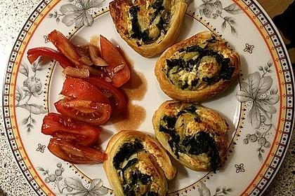 Blätterteig - Spinat - Schnecken 4
