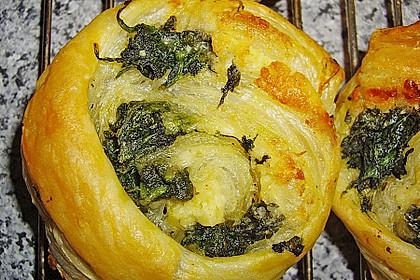 Blätterteig - Spinat - Schnecken 39