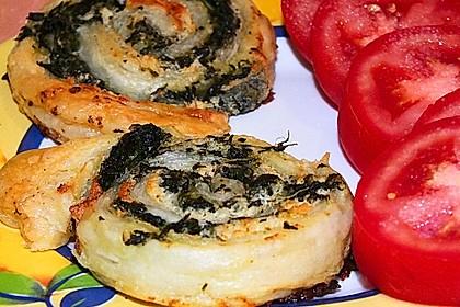 Blätterteig - Spinat - Schnecken 31