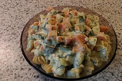 Nudeln mit Zucchini - Möhren - Sauce 7