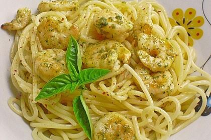 Spaghetti mit Schrimps in Chili - Knoblauchöl