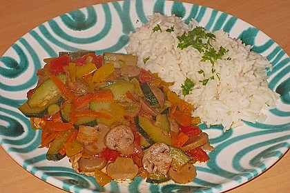 Hühnerbrustfilet mit Gemüse in der Folie gegart 1