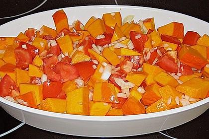 Fruchtig - pikantes Gemüsecurry mit Tomaten und Hokkaido - Kürbis 2