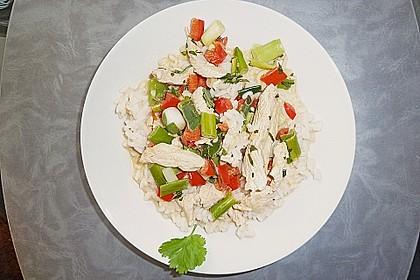 Paprika - Kokos - Curry mit Putenfleisch und Reis 4