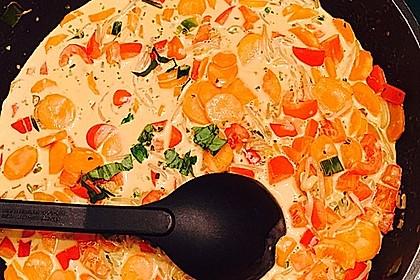 Paprika - Kokos - Curry mit Putenfleisch und Reis 6