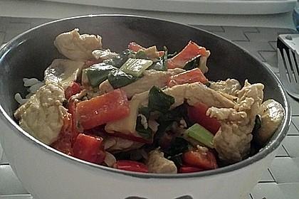 Paprika - Kokos - Curry mit Putenfleisch und Reis 5