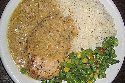 Hühnerfilet in Zwiebel - Balsamico - Sauce 3