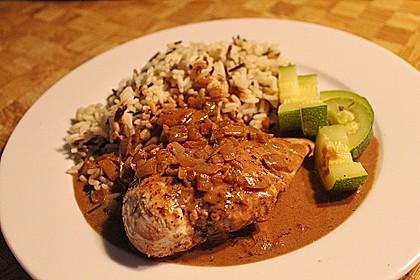 Hühnerfilet in Zwiebel - Balsamico - Sauce