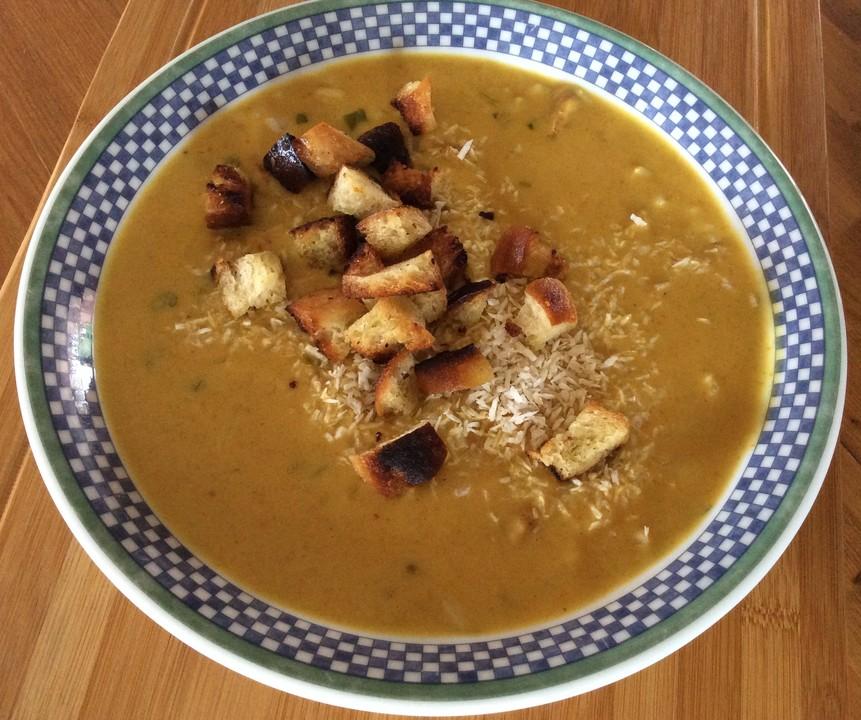 kokos curry suppe rezept mit bild von riddel. Black Bedroom Furniture Sets. Home Design Ideas