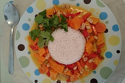 Süßkartoffel - Curry 1
