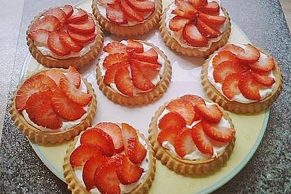 Torteletts mit Mascarpone - Erdbeer - Belag 2