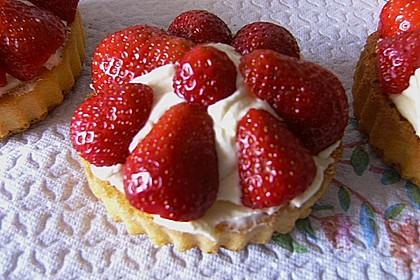 Torteletts mit Mascarpone - Erdbeer - Belag 6