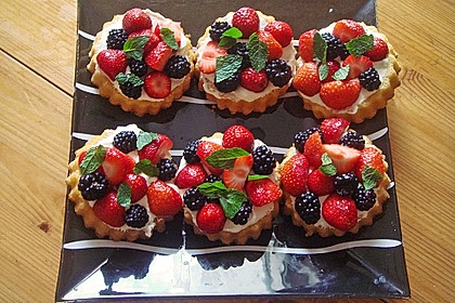 Torteletts mit Mascarpone - Erdbeer - Belag 0