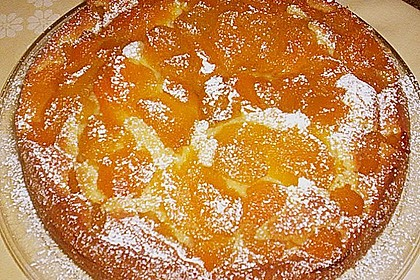 Aprikosenkuchen mit murbeteig