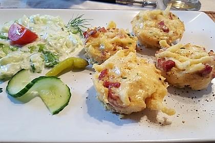 Spätzle - Muffins mit Salat 2