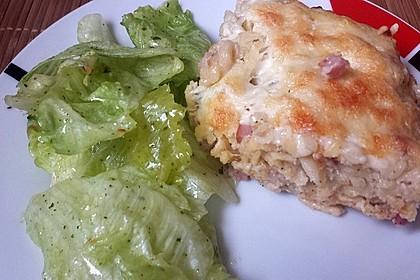 Spätzle - Muffins mit Salat