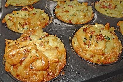 Spätzle - Muffins mit Salat 11
