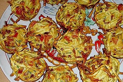 Spätzle - Muffins mit Salat 6