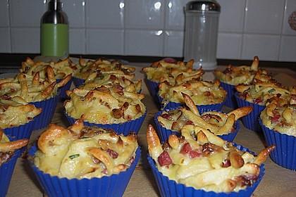Spätzle - Muffins mit Salat 18