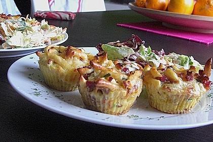 Spätzle - Muffins mit Salat 13