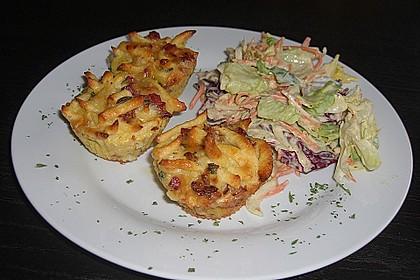 Spätzle - Muffins mit Salat 4