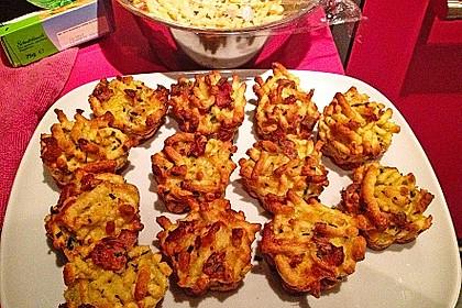 Spätzle - Muffins mit Salat 19