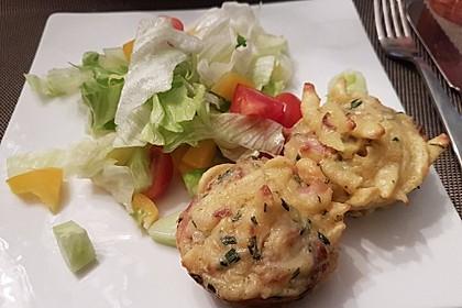 Spätzle - Muffins mit Salat 12