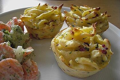 Spätzle - Muffins mit Salat 10