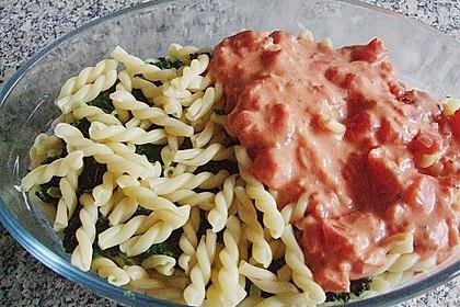 Nudel - Tomaten - Spinat - Auflauf 3