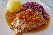 Schweinebraten in Senf - Sahne - Sauce