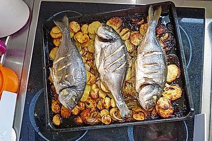 Gebackene Dorade mit scharfen Ofenkartoffeln 2