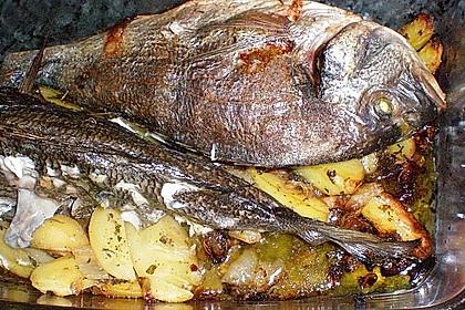 Gebackene Dorade mit scharfen Ofenkartoffeln 21