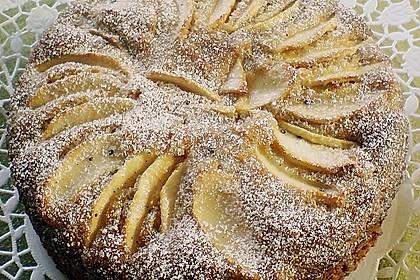 Vanille mandel kuchen mit apfel