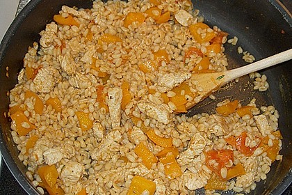 Eblypfanne mit Hähnchenbrustwürfeln 1