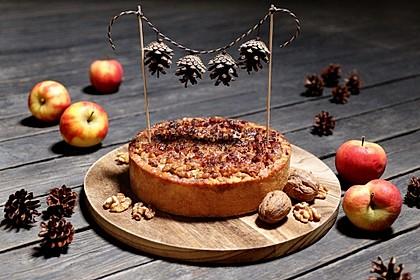 Apfelkuchen mit Walnusscreme