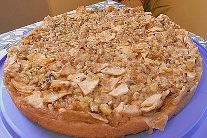 Apfelkuchen mit Walnusscreme 56