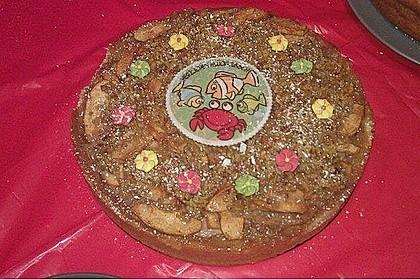 Apfelkuchen mit Walnusscreme 70
