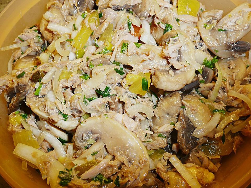 kalorienarmer thunfischsalat, schneller champignon - thunfischsalat von ille von illepille, Design ideen